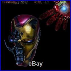 1/1 Battle Damage Helmet WithLight Avengers 4 Iron Man MK50 VL1902 Figure Toys