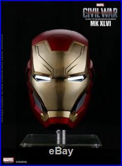 1/1 Marvel Wearable Iron Man MK46 Mark XLVI Helmet Avengers Series Touch Open