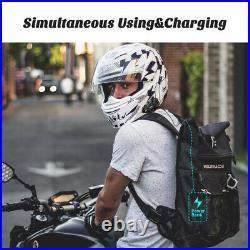 1000M 6 Riders Motorcycle Intercom Camera Bluetooth Headset Helmet Interphone FM