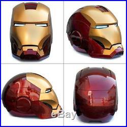 11 Scale Wearable Open Close Iron Man MK7 Helmet Roan Toys Cosplay Model Figure