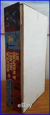 1983 Vintage Skeletor Weapons & Helmet Role Play Motu Masters Universe Mib Afa