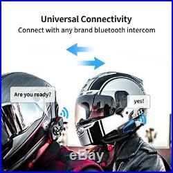 2 x LEXIN LX-B4FM Motorbike Bluetooth Helmet headset Intercom & FM for 4 riders