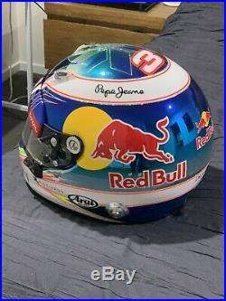 2016 Race Worn Daniel Ricciardo Red Bull F1 Race Media Helmet. Rare