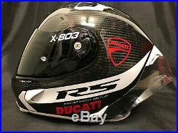 2020 X-Lite X803RS Carbon Hot Lap White FREE DARK Visor Motorbike Helmet Ducati