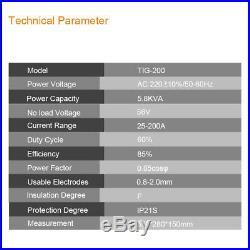 230V Inverter TIG Welder 200A HF Start TIG Welding Machine &Helmet &Torches Kits
