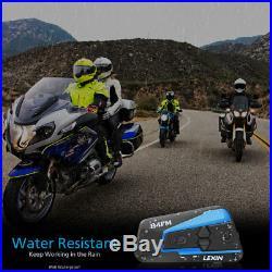 2PCS 4 Way LEXIN LX-B4FM Motorcycle helmet bluetooth headset Intercom & FM radio