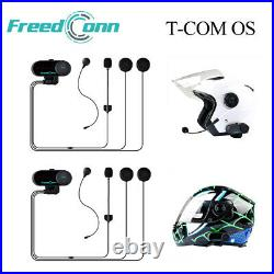 2x Motorcycle Intercom Wireless Bluetooth Helmet Interphone MotorBike Headset FM