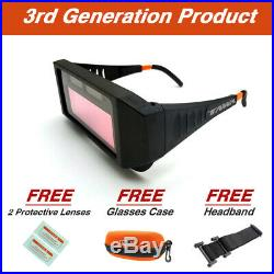 3rd GEN Auto Solar Darkening Welding Goggles Glasses Helmet Mask With Case Lenses