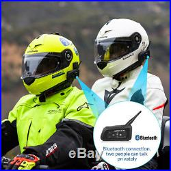 4 X LX-R6 Bluetooth Motorcycle Helmet Interphone Intercom Headset 6 Riders 1200M