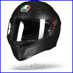 AGV K-1 K1 Matte Black Full Face Motorcycle Helmet Free Shipping NEW
