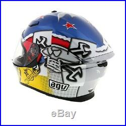 AGV Motorbike Motorcycle Track K5-S Guy Martin 3Some Blue / Fuschia / Yellow