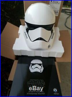 ANOVOS STAR WARS LAST JEDI First Order Stormtrooper Helmet Movie Replica mask
