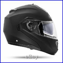 ATO Montreal Klapphelm Doppelvisier Schwarz matt L ECE 2205 Motorradhelm Helm