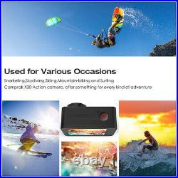 Action Camera Ultra HD 4K 30fps WiFi 2.0-inch 170D Underwater Waterproof Helmet