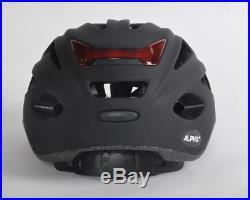 Alpha Plus Matt Black Bike Helmet With LED Light 54-59cm Free Delivery