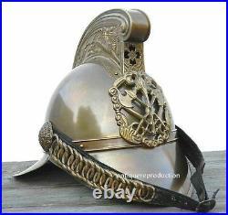 Antique Brass British Fireman Helmet Collectible Fire Bridge British Full Brass