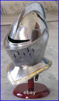 Antique Medieval Helmet Medieval Knight Armor Helmet free helmet stand