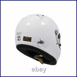 Arai GP-5 (A/C) PED with HANS White XL SA2005 Car Racing Helmet
