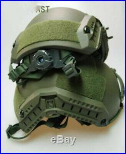 Army Uhmw-pe Ballistic Iiia Bullet Proof Helmet M/l Black/army Green