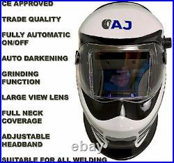 Autojack Gasless 130 Amp MIG 230V with Auto Darkening Lens Pro Welding Helmet