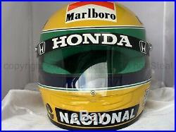 Ayrton Senna 1990 Rheos F1 Replica Helmet Full Size Helm Casque