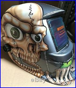 BBS Auto Darkening Welding/Grinding Helmet Hood with sensitive/delay time control