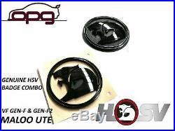 Badge Hsv Helmet Lion & Helmet Vf Gen-f Gen-f2 Maloo Bonnet & Tailgate Ute Black