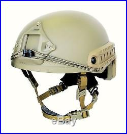 Ballistic IIIA Bullet Proof High Cut Helmet + DISK + cover Multicam