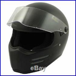 Bandit Fighter Black / Matt Black Motorbike Motorcycle Helmet