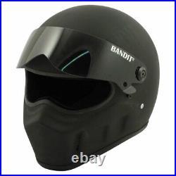 Bandit Super Street II Matt Black Motorcycle Motorbike Helmet