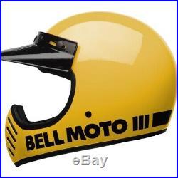 Bell Moto 3 Classic Yellow Motorcycle Helmet Motocross Black MX Off-Road J&S