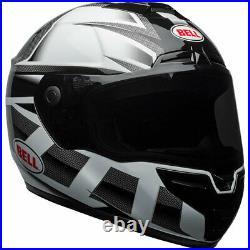 Bell SRT Motorbike Motorcycle Helmet Predator White / Black