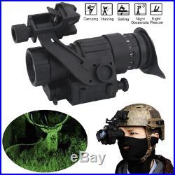 Black Hunting Infrared HD Digital IR Monocular Night Vision Helmet Telescope SA