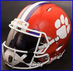 CUSTOM CLEMSON TIGERS NCAA Riddell SPEED Full Size Replica Football Helmet