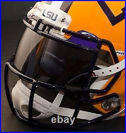CUSTOM LSU TIGERS NCAA Riddell SPEED Full Size Replica Football Helmet