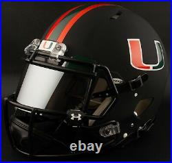 CUSTOM MIAMI HURRICANES NCAA Riddell SPEED Full Size Replica Football Helmet