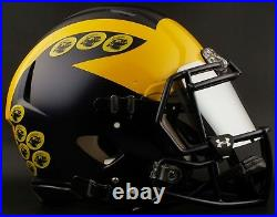CUSTOM MICHIGAN WOLVERINES NCAA Riddell Speed AUTHENTIC Football Helmet