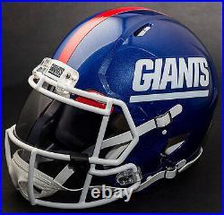CUSTOM NEW YORK GIANTS NFL Riddell Revolution SPEED Football Helmet
