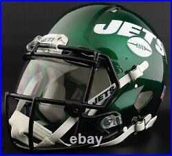 CUSTOM NEW YORK JETS Full Size NFL Riddell SPEED Football Helmet
