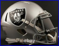 CUSTOM OAKLAND RAIDERS Full Size NFL Riddell SPEED Football Helmet