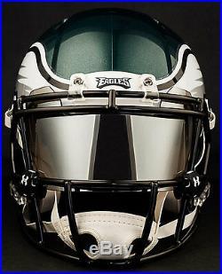 CUSTOM PHILADELPHIA EAGLES Full Size NFL Riddell SPEED Football Helmet
