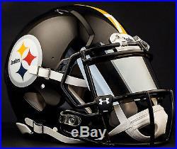 CUSTOM PITTSBURGH STEELERS Full Size NFL Riddell SPEED Football Helmet