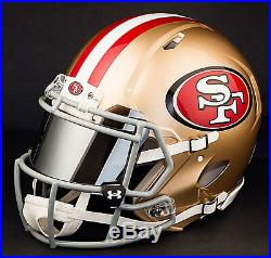 CUSTOM SAN FRANCISCO 49ers Full Size NFL Riddell SPEED Football Helmet