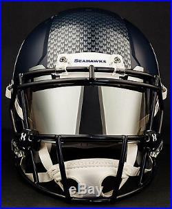 CUSTOM SEATTLE SEAHAWKS Full Size NFL Riddell SPEED Football Helmet