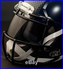 CUSTOM SEATTLE SEAHAWKS NFL Riddell Revolution SPEED Football Helmet