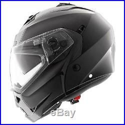 Caberg Klapp Helm Duke II 2 Smart Schwarz Motorrad Sonnenblende Pinlock Jet