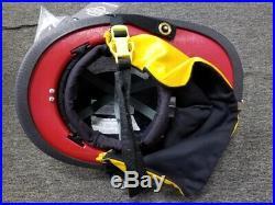 Cairns 880 MSA Structure Firefighting Helmet, RED
