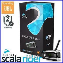 Cardo Scala Rider Packtalk Bold Solo JBL Motorcycle Helmet Bluetooth Intercom
