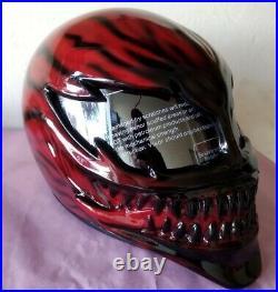 Carnage Venom helmet / custom motorcycle helmet Free international shipping