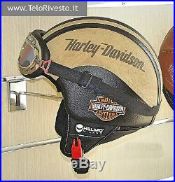 Casco Harley Davidson stampa logo Vintage retrò personalizzato in pelle s m l xl